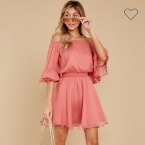 Effortless grace rose dress, size small, NWT